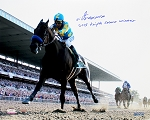 Victor Espinoza Autographed 16x20 Photo Inscribed 2015 Triple Crown Winner