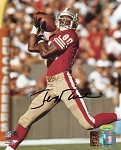 Jerry Rice Autographed San Francisco 49ers Catching 8x10 Photo