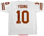 Vince Young Autographed Texas UT Longhorns Jersey Inscribed National Champs