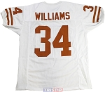 Ricky Williams Unsigned Texas Longhorns White Custom Jersey