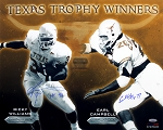 Earl Campbell & Ricky Williams Autographed UT Heisman Winners 16x20 Photo