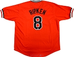 Cal Ripken Jr. Autographed Baltimore Orioles Majestic Orange Replica Jersey