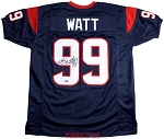 JJ Watt Autographed Houston Texans Custom Blue Jersey