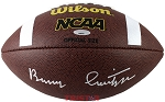 Barry Switzer Autographed Wilson Official NCAA Football