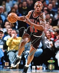 Dennis Rodman Autographed Chicago Bulls Dribbling 8x10 Photo