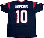 DeAndre Hopkins Autographed Houston Texans Blue Custom Jersey