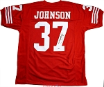 Jimmy Johnson Autographed San Francisco 49ers Custom Jersey Inscribed HOF