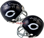Gale Sayers & Dick Butkus Autographed Chicago Bears Throwback Mini Helmet