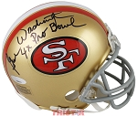 Gene Washington Autographed San Francisco 49ers Mini Helmet Inscribed 4x Pro Bowl