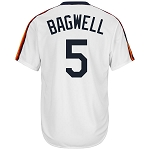 Jeff Bagwell Unsigned Astros Cooperstown Throwback Replica White Jersey