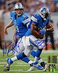 Matthew Stafford & Reggie Bush Autographed Detroit Lions 8x10 Photo