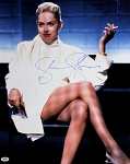 Sharon Stone Autographed Basic Instinct Movie 16x20 Photo