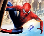 Stan Lee Autographed Spiderman Movie 16x20 Photo