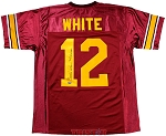 Charles White Autographed USC Trojans Custom Jersey Inscribed Heisman