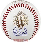 Alcides Escobar Autographed 2015 World Series Baseball