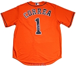 Carlos Correa Autographed Houston Astros Orange Replica Jersey