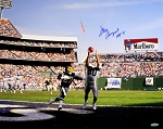 Steve Largent Autographed Seattle Seahawks 16x20 Photo Inscribed HOF 95
