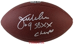 Jim McMahon Autographed Wilson Platinum NFL Football Inscribed SB XX Champs