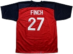 Jennie Finch Autographed USA Softball Jersey Inscribed '04 Gold