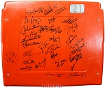 1985 Chicago Bears Super Bowl Champs Autographed Soldier Field Seatback