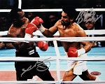 Sugar Ray Leonard & Roberto Duran Autographed 3rd Fight 8x10 Photo