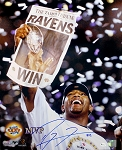 Ray Lewis Autographed Baltimore Ravens Super Bowl XXXV MVP 16x20 Photo