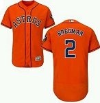 Alex Bregman Unsigned Houston Astros Orange Replica Jersey