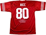 Jerry Rice Autographed 49ers Career Stat Embroidered Jersey Collectors Edition/500