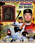 Jeff Bagwell Autographed Hall of Fame Tribute Collage 8x10 Photo
