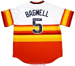 Jeff Bagwell Autographed Houston Astros Rainbow Replica Jersey Inscribed HOF 2017