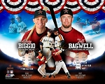 Jeff Bagwell & Craig Biggio Unsigned Hall of Fame Collage 16x20 Photo