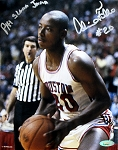 Alvin Franklin Autographed Houston Cougars 8x10 Photo Inscribed Phi Slama Jama