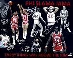 Phi Slama Jama Autographed Houston Cougars 'Above the Rim' 16x20 Photo