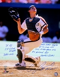 Craig Biggio Autographed Inscribed Astros Catching 16x20 Photo Limited Edition