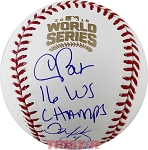 Chris Bosio, John Mallee & Dave Martinez Autographed 2016 World Series Baseball