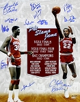 Phi Slama Jama Autographed Houston Cougars 16x20 Photo - Olajuwon, Drexler & More