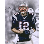 Tom Brady Autographed New England Patriots SB LI Celebrating 8x10 Photo