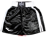 Roy Jones Jr. Autographed Boxing Trunks Inscribed 90's Fighter of the Decade