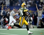 Andre Rison Autographed Packers 16x20 Photo Inscribed SB XXXI Champs