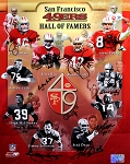 San Francisco 49ers Autographed Hall of Famers 16x20 Photo with 11 Signatures