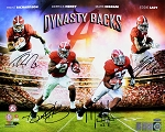 Henry, Ingram, Lacy & Richardson Autographed Alabama Dynasty Backs 16x20 Photo