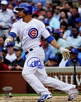 Willson Contreras Autographed Chicago Cubs Batting 8x10 Photo