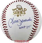 Chris Devenski Autographed 2017 World Series Baseball Inscribed Whip It!