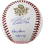 Josh Reddick Autographed 2017 World Series Baseball Inscribed Houston Strong
