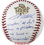 Josh Reddick Autographed 2017 World Series Baseball Inscribed Wooston, We Have a Championship