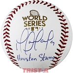 Marwin Gonzalez Autographed 2017 World Series Baseball Inscribed Houston Strong
