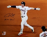 Alex Bregman Autographed 2017 World Series 16x20 Photo Inscribed Houston Strong!