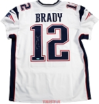 Tom Brady Autographed New England Patriots Nike Elite White Jersey