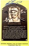Ken Griffey Jr. Autographed Hall of Fame Postcard