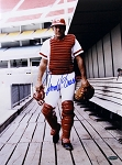 Johnny Bench Autographed Cincinnati Reds 12x16 Photo